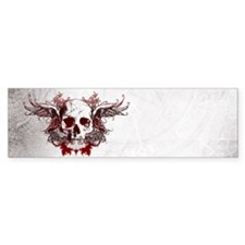 Dark Red Skull Bumper Bumper Sticker