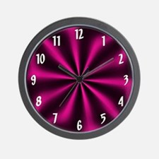 Pink Graphic Wall Clock