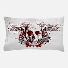 Dark Red Skull Pillow Case