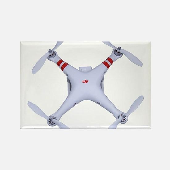 DJI Phantom Quadcopter Top View Magnets