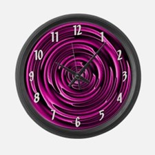 Circular Pink Large Wall Clock
