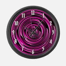 Circular Pink Large Wall Clock