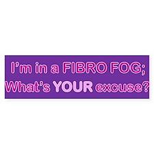 Fibro Fog Bumper Bumper Sticker