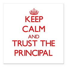Keep Calm and Trust the Principal Square Car Magne