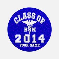 """Class of 2014 Girl Soccer 3.5"""" Button"""