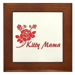 Kitty Mama Framed Tile