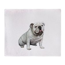 English Bulldog (W1) Throw Blanket