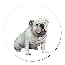 English Bulldog (W1) Round Car Magnet