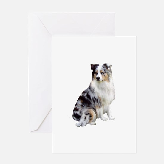 Australian Shep (gp1) Greeting Card