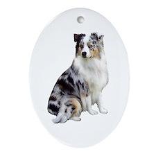Australian Shep (gp1) Ornament (Oval)