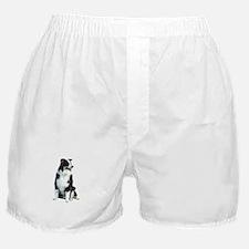 Australian Shep (BW) Boxer Shorts