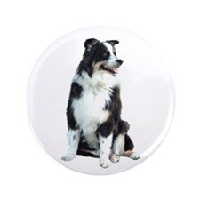 "Australian Shep (BW) 3.5"" Button"
