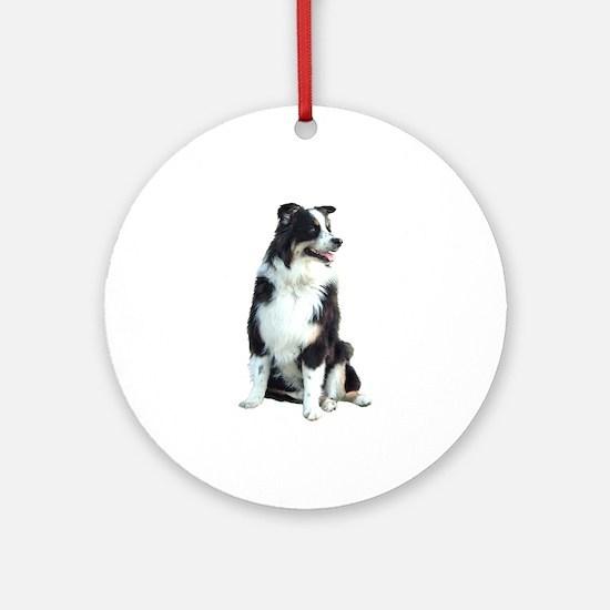 Australian Shep (BW) Ornament (Round)
