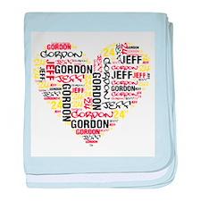 Heart Jeff Gordon baby blanket
