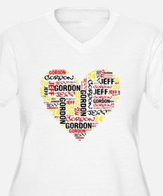 Heart Jeff Gordon Plus Size T-Shirt
