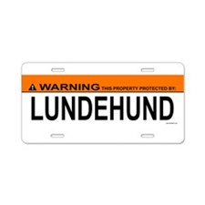 Unique Lundehund Aluminum License Plate