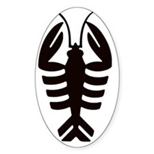 Vintage Art Deco Lobster Decal