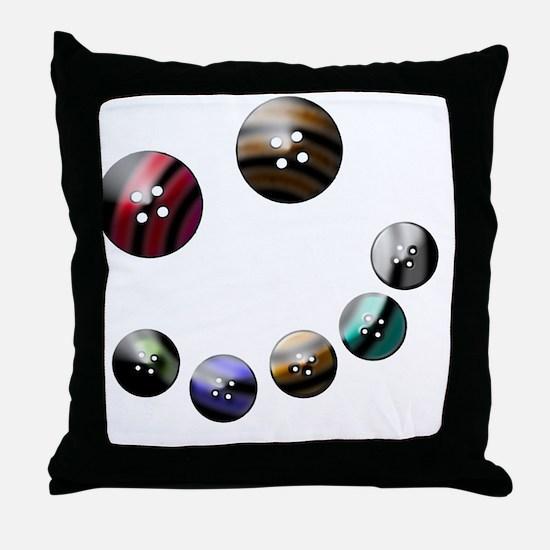 Those crazy Button Eyes Throw Pillow