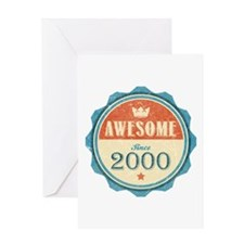 Awesome Since 2000 Greeting Card