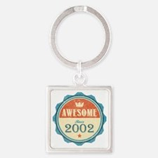 Awesome Since 2002 Square Keychain