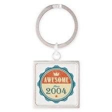 Awesome Since 2004 Square Keychain