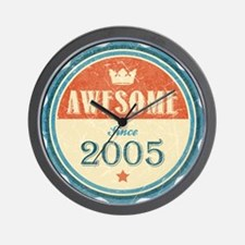 Awesome Since 2005 Wall Clock