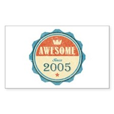 Awesome Since 2005 Rectangle Sticker (10 pack)