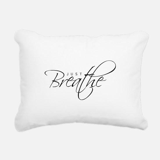 Just Breathe - Rectangular Canvas Pillow