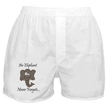 An Elephant Never Forgets Boxer Shorts