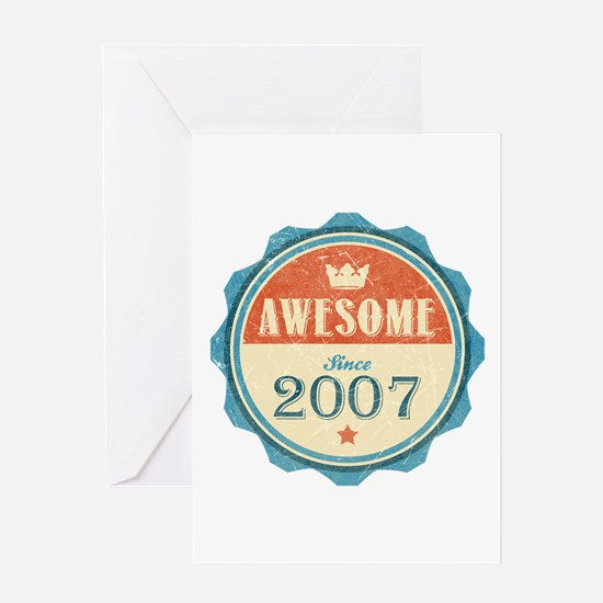 Awesome Since 2007 Greeting Card