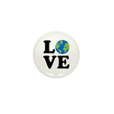 Love Earth Mini Button (10 pack)