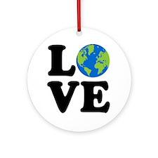 Love Earth Ornament (Round)