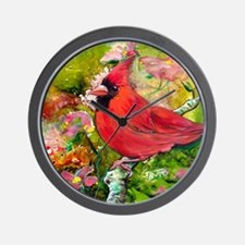 Kentucky Cardinal by GG Burns Wall Clock