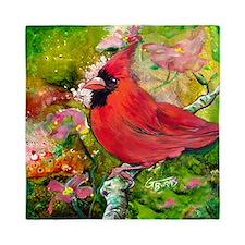 Kentucky Cardinal by GG Burns Queen Duvet