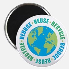 """Reduce Reuse Recycle 2.25"""" Magnet (100 pack)"""