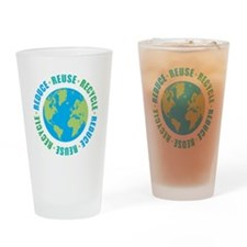 Reduce Reuse Recycle Drinking Glass
