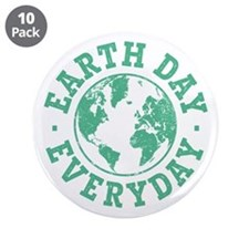 """Vintage Earth Day Everyday 3.5"""" Button (10 pack)"""