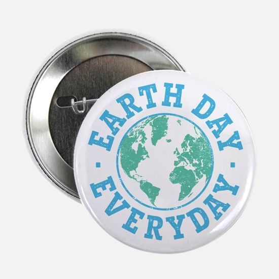 "Vintage Earth Day Everyday 2.25"" Button"