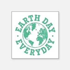 "Vintage Earth Day Everyday Square Sticker 3"" x 3"""