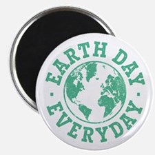 "Vintage Earth Day Everyday 2.25"" Magnet (10 pack)"