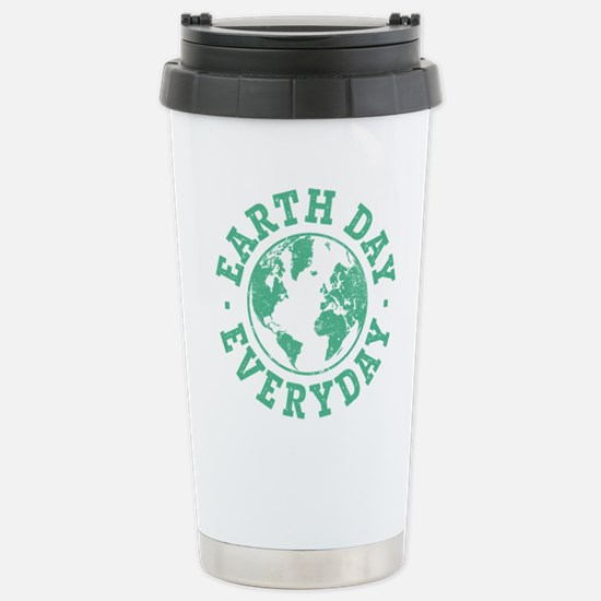 Vintage Earth Day Every Stainless Steel Travel Mug