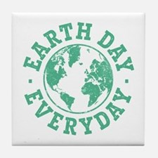 Vintage Earth Day Everyday Tile Coaster