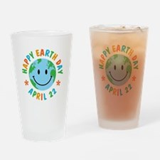 Happy Earth Day Drinking Glass