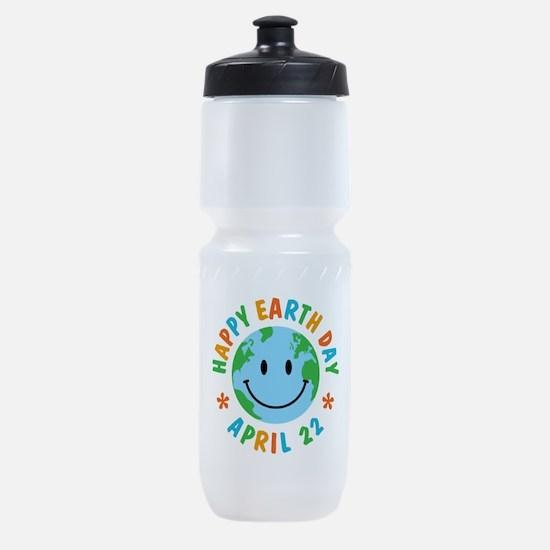 Happy Earth Day Sports Bottle