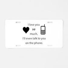 Introvert Love Aluminum License Plate