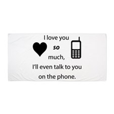 Introvert Love Beach Towel