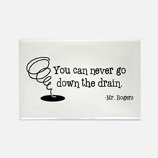 Down the Drain Rectangle Magnet