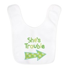 Shes Trouble Star Arrow Bib