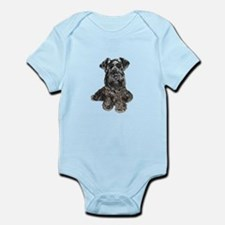 Schnauzer (gp-blk) Infant Bodysuit