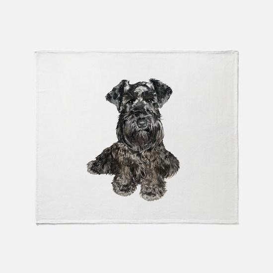 Schnauzer (gp-blk) Throw Blanket